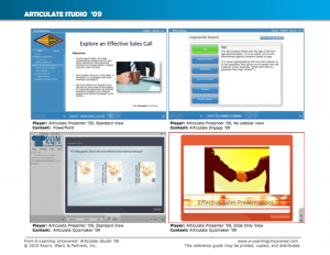 Articulate Studio '09 Player configurations