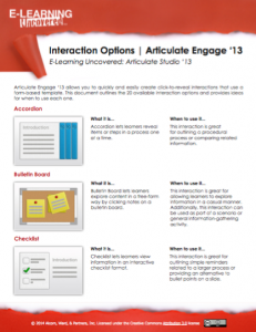 Articulate Studio '13 Interaction Options