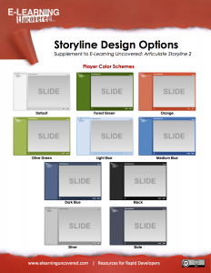 Articulate Storyline Design Options