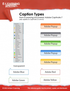 Cap 7 Caption Types