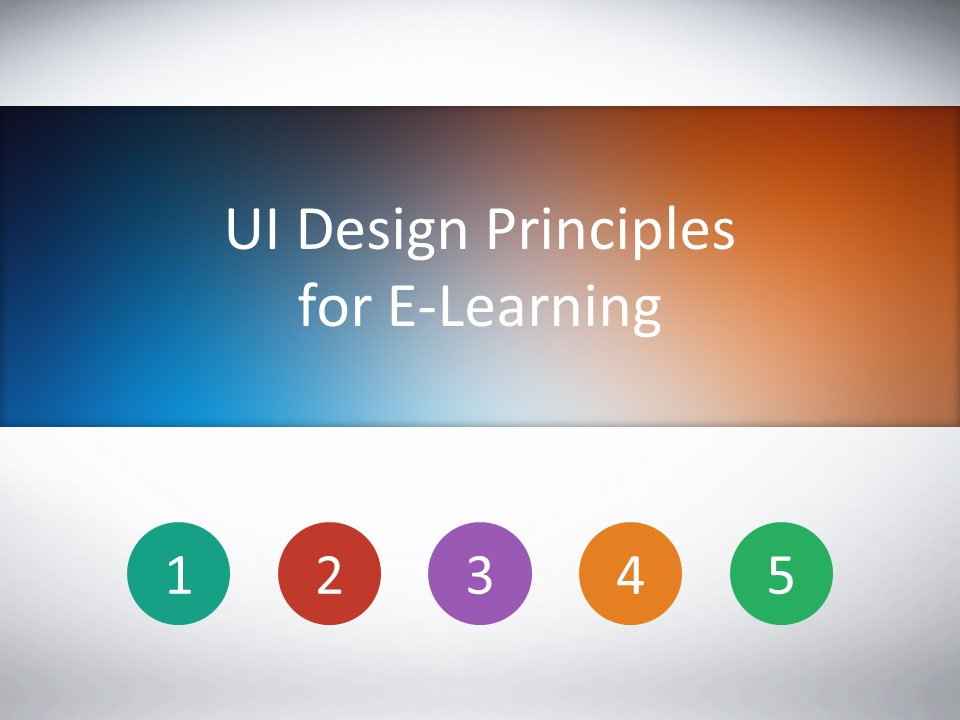 user interface design principles for elearning e