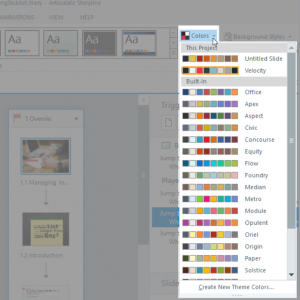 Custom Color Themes in Storyline
